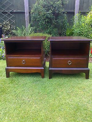 A Pair of Mahogany Stag Bedside Cabinets