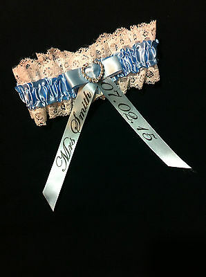 Personalised Garter bride something blue hen night Wedding gift accessories