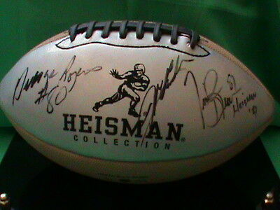 JEFF GORDON - Tim Brown & George Rogers autographed Heisman collection football