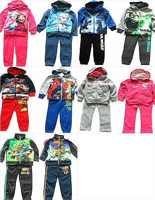 Character Tracksuit Jogging Set Jacket Clothing Set Outfit Boys Girls Age 2-10Y