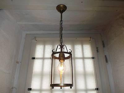 French circular lantern glass brass perfect to hall way classic designed vintage • CAD $99.29