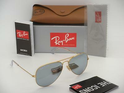 ray ban aviator silver 1fje  Ray-Ban Aviator RB 3025 112/W3 58mm Matte Gold Polarized Silver Mirror