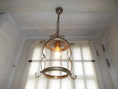 French circular lantern glass metal gold finished to hall way classic  vintage