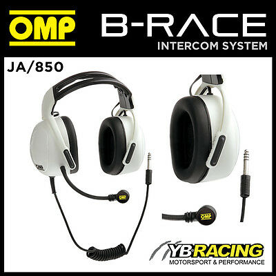 JA/850 OMP INTERCOM HEADSET HEADPHONES for OMP B-RACE JA/848 INTERCOM SYSTEM