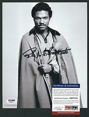 """Billy Dee Williams signed 8""""x10"""" photo PSA Authenticated Empire Strikes Back"""