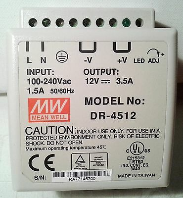 Din Rail Power Supply Mean Well Dr-4512 New