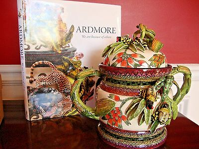ARDMORE CERAMIC JAR BUMBLE BEE TUREEN, 2-pc BOWL & LID ORIGINAL $6K FAB!