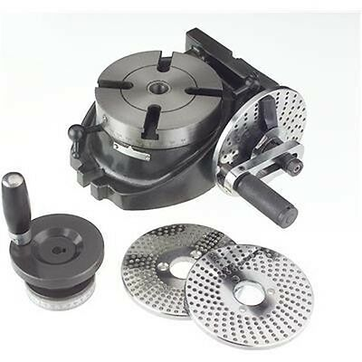 "4"" Precision Machinist Rotary Table with 3 Dividing Plates for Milling Machine"