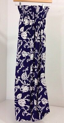NWT PINKBLUSH Navy Blue Floral Print Maternity Pants Small $67