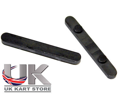 Con chavetas Eje Llave 30mm (C-C) x 6mm x 2 UK KART STORE