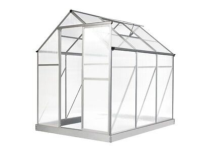 Evergreen Greenhouse 6 x 8ft Silver Green Houses NEW