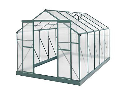 Evergreen Greenhouse 12 x 8ft Green Green Houses Polycarbonate NEW