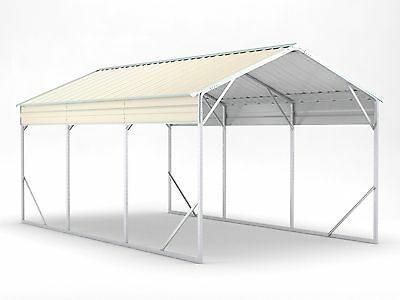 Carport 3.5m x 6.0m x 2.9m Widespan Cream Car Port Steel Portable RV Boat NEW