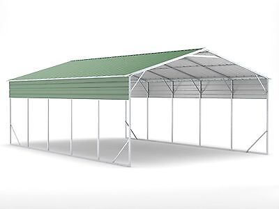 Carport 6.2m x 9.4m x 3.6m Widespan Dark Green Car Port Steel Portable RV Boat