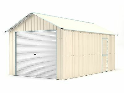 Single Garage 3.6m x 6.1m Widespan Cream Garages Steel NEW