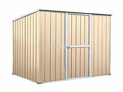 Garden Shed 2.6m x 1.75m x 1.9m Cream Tool Storage Sheds Colorbond NEW