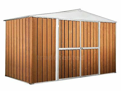 Garden Shed 3.45m x 1.75m x 2.1m Wood Finish Storage Sheds NEW