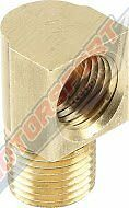"BRAKE CALIPER FITTING 90Degree 1/8""NPT to 3/8 -24"" INVERTED FLARE 2PK #SPP50125"