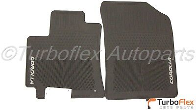 Toyota Corolla 2009-2013 Black All Weather Rubber Front Floor Mats Genuine OEM