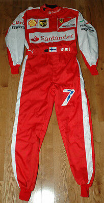 Kimi Raikkonen Autographed Signed Replica 2015 F1 Race Suit Overall With Proof