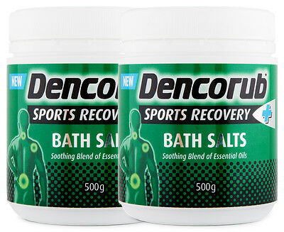 2 x Dencorub Sports Recovery Bath Salts 500g