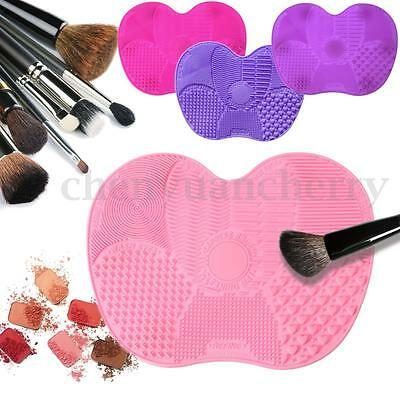 Silicone Makeup Cosmetic Brush Cleaner Washing Scrubber Board Cleaning Mat Pad