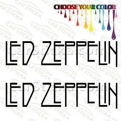 """2 of 8"""" to 20"""" Led Zeppelin Logo /A artist car wall window stickers decal bumper"""