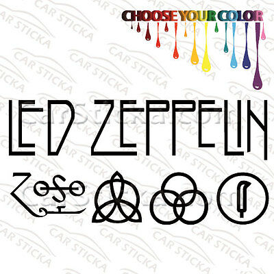 """2 of 8"""" to 20"""" Led Zeppelin Symbols /A artist car window stickers decals die cut"""