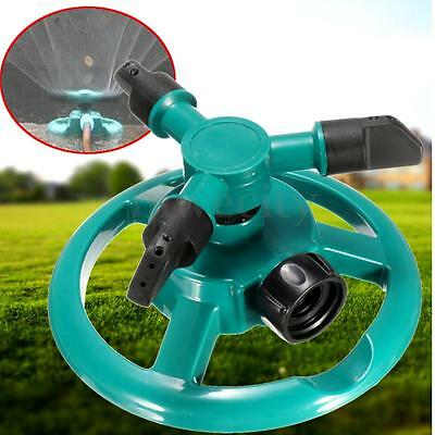 360° Circle Rotating Lawn Vegetable Garden Sprinkler 3 Nozzle ABS Water Tool