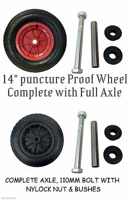 PU Puncture Proof Replacement Sack Truck/Wheelbarrow/trolley/cart Wheel + Tyre