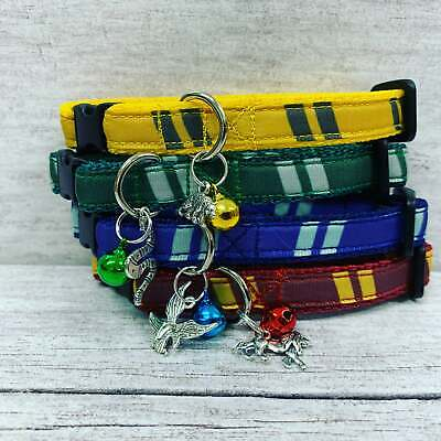 Slytherin Wizard Kitten Cat Puppy Small Dog Collar Harry Potter Houses Charm