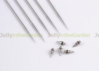 5x 0.2mm Airbrush Nozzle + 5x 0.2mm Needle Replacement Part for Airbrush Gun
