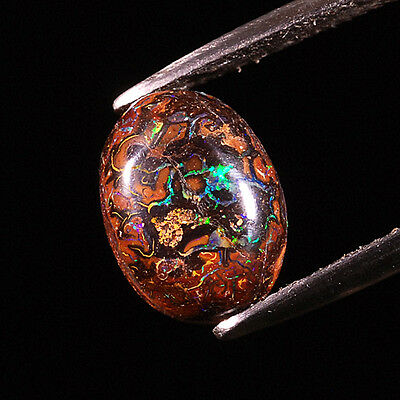 5.06CT Very Beautiful Play Of Color! 100%Natural Australian Boulder Opal #164