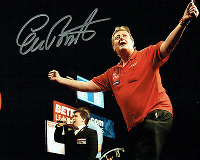 Eric BRISTOW Signed 10x8 Autograph Photo A AFTAL COA Darts Crafty Cockney