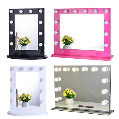 Chende Hollywood Makeup Vanity Mirror with Light Aluminum Stage Beauty Mirror