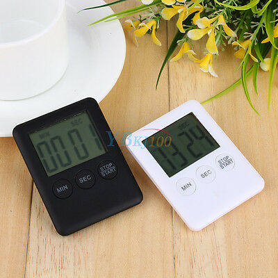 LCD Display Digital Kitchen Cooking Timer Count-Down Up Clock Alarm Magnetic