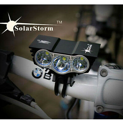 10000LM SolarStorm CREE T6 LED Bicycle Bike Head Light Cycling Front Lamp 5V USB