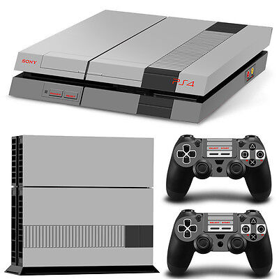 Skin Ps4 Protection Decor Nintendo Nes Style Autocollant Sticker - Ps4S008