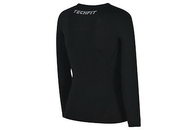 Boys Adidas Ess Junior Techfit Black Long Sleeve Compression Top Climalite