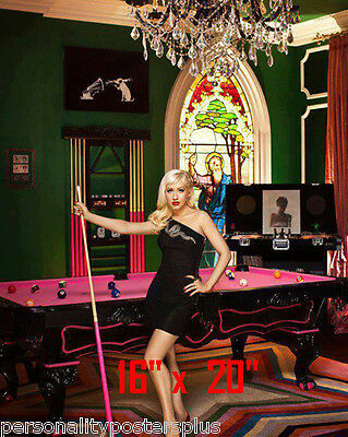 "Christina Aguilera~Color~Playing Pool~Playing Billiards~Poster~16"" x 20"" Photo"