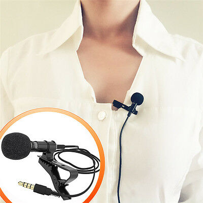 for Karaoke iPhone Android Professional Lavalier Lapel Microphone Condenser Mic