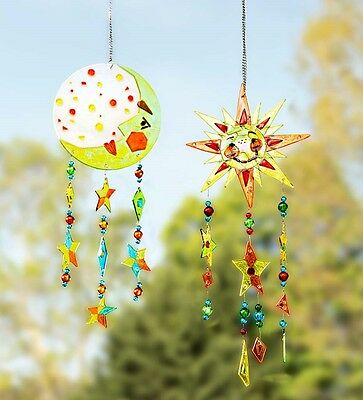Wind Weather Noisemakers Handcrafted Fused Gl Chime
