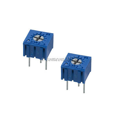 10Pcs 100ohm 3362P-101 3362 P High Precision Variable Resistor Potentiometer UK