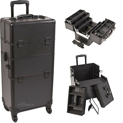 Cosmetic Train Rolling Case Organizer Storage Trolley 2n1 Sunrise Pro Artist NIB