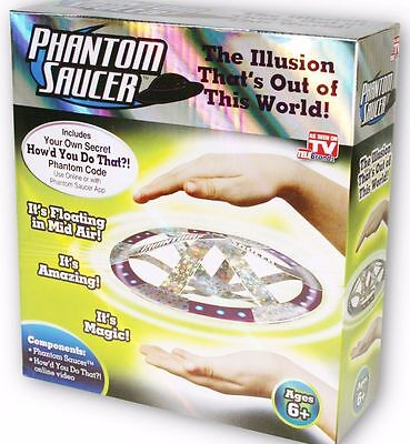 Phantom Saucer As Seen on TV Magical Illusion UFO Mystery Hovering.