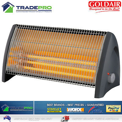 Goldair Heater Electric 3 Bar 2400w with Infra-red 3 Heat Settings Aust Approved