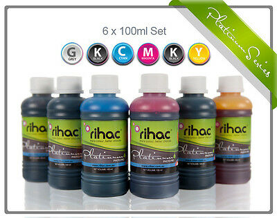 RIHAC Refill ink for CISS suits Canon 670 671 Dye  C Y M BK GY & Pigment PGBK