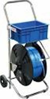 Mobile Strapping Dispenser For Polyester And Polypropylene Strapping