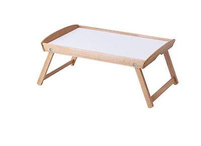 Ikea Serving Tray Tea Coffee Bed Table Wooden DJURA-New