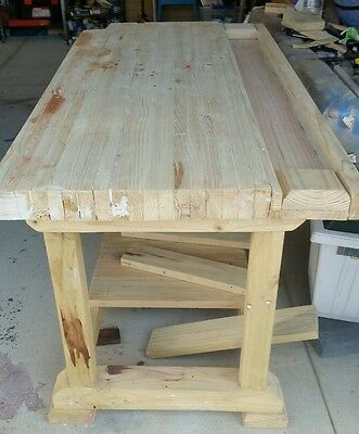 "Custom Built - Heavy duty 3.5"" top timber workbench. Traditional joinery."